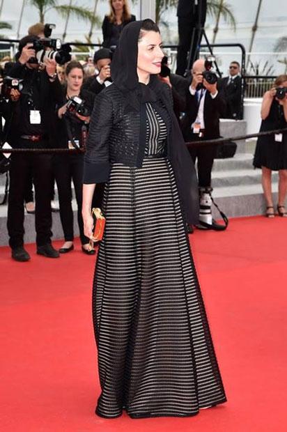 لیلا حاتمی جشنواره کن با لباس مشکی