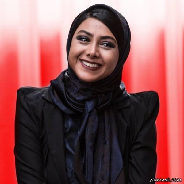 آزاده صمدی گیلانی با لباس مشکی