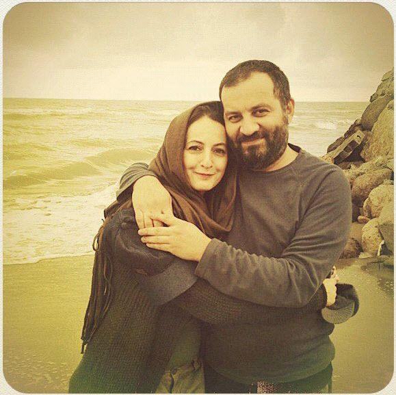 مهراب قاسمخانی و شقایق دهقان در کنار دریا