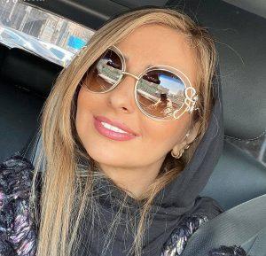 نفیسه روشن از بازیگران زن ایرانی با عینک دودی