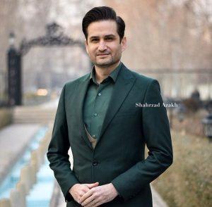 پویا امینی از بازیگران مرد ایرانی با کت شلوار