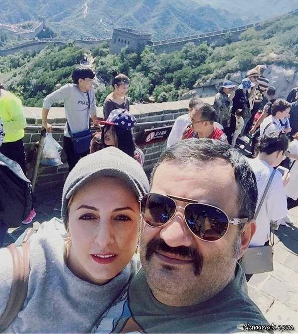 مهراب قاسمخانی و شقایق دهقان با کلاه