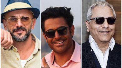 تصویر از مدل عینک آفتابی بازیگران مشهور مرد ایرانی