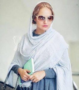 مهناز افشار از بازیگران زن ایرانی با عینک دودی