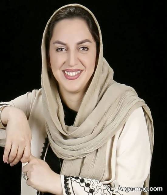 نسرین بابایی بازیگر گیلانی با شال کرم