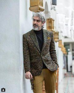 مهدی پاکدل از بازیگران مرد ایرانی با کت شلوار