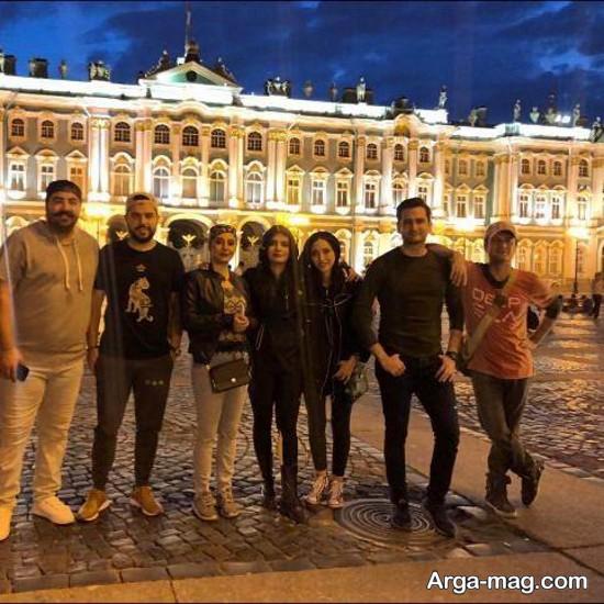 عکس لیندا کیانی در روسیه و دوستانش