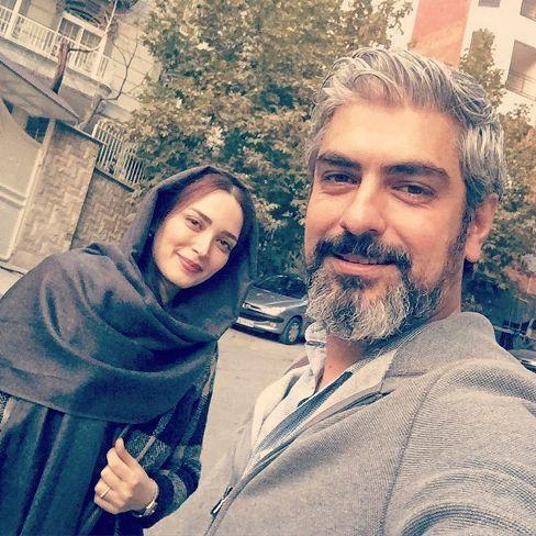 مهدی پاکدل و بهنوش طباطبایی در خیابان