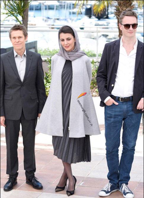 لیلا حاتمی جشنواره کن با لباس طوسی