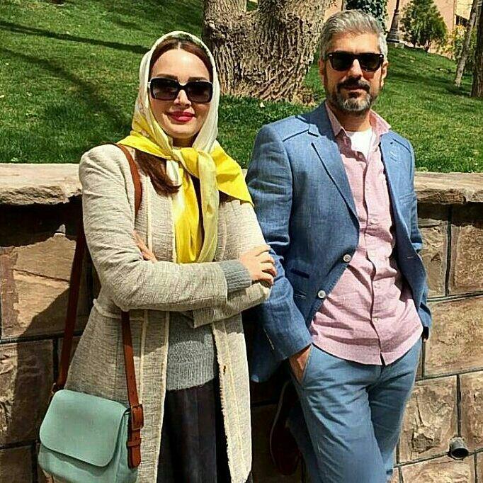 مهدی پاکدل و بهنوش طباطبایی در پارک