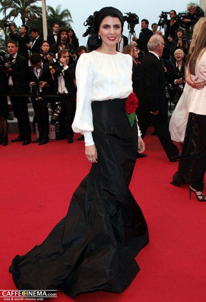 لیلا حاتمی جشنواره کن با دامن مشکی بلند