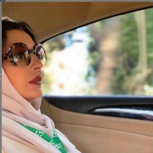 ساره بیات از بازیگران زن ایرانی با عینک دودی
