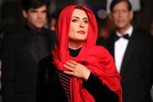 بهناز جعفری جشنواره کن با شال قرمز