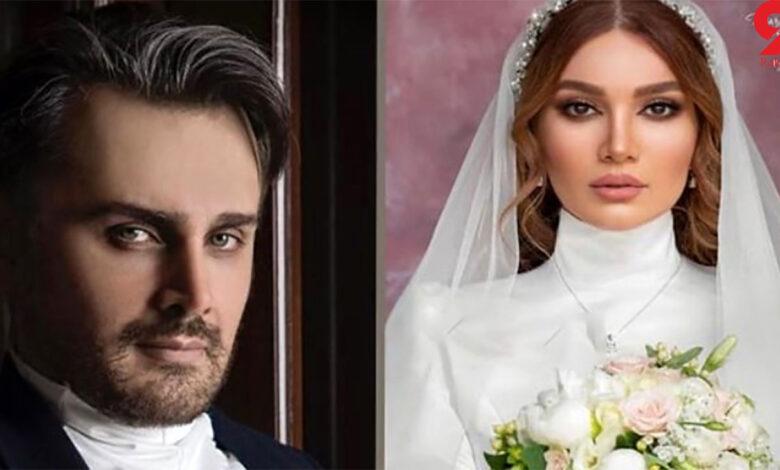 متین ستوده با لباس عروس - ازدواج متین ستوده